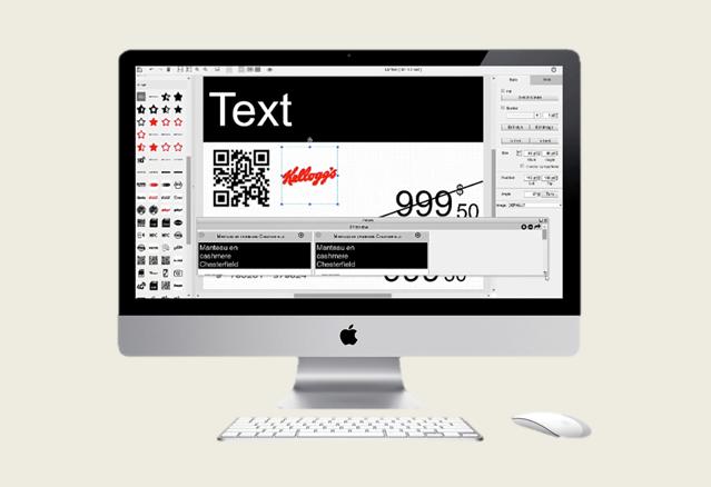 Az elektronikus polccímkén megjelenítendő képsablonok szerkesztése a STUDIO nevű alkalmazással